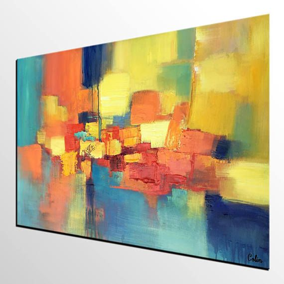 Kunst Malerei, Abstrakte Leinwand Kunst, Individuelle Kunst, Abstrakte  Malerei, Große Kunst, Zeitgenössische Kunst, Schwere Beschaffenheit Malerei,  ...