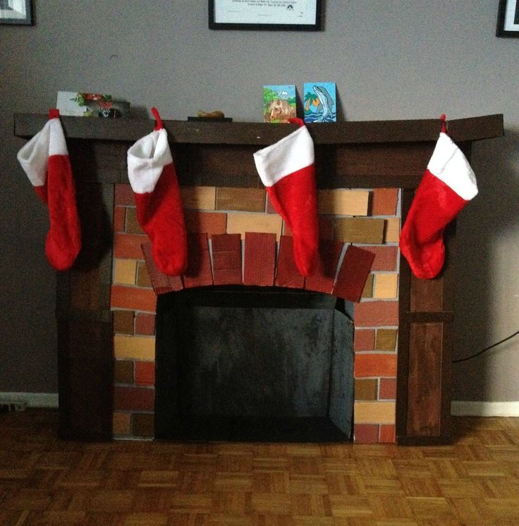 Fireplace Design diy cardboard fireplace : 131 best Cardboard Fun images on Pinterest