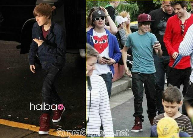 Justin Bieber Supra Tk