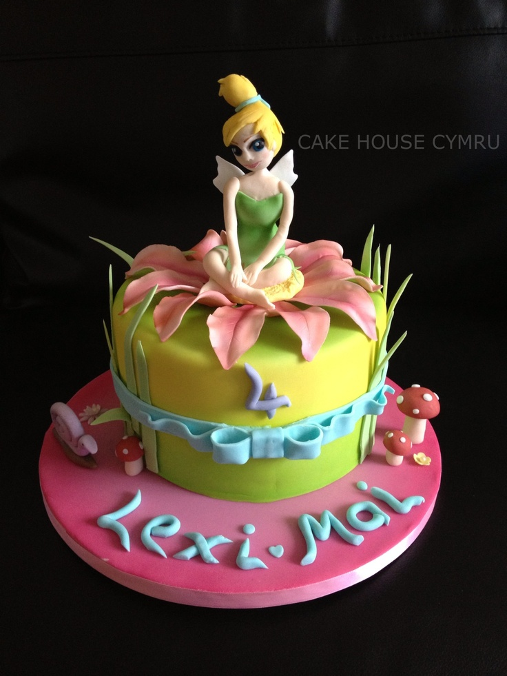 4th Birthday Cake - #Tinker bell Cake