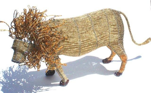 Lion Beaded Handmade Artwork