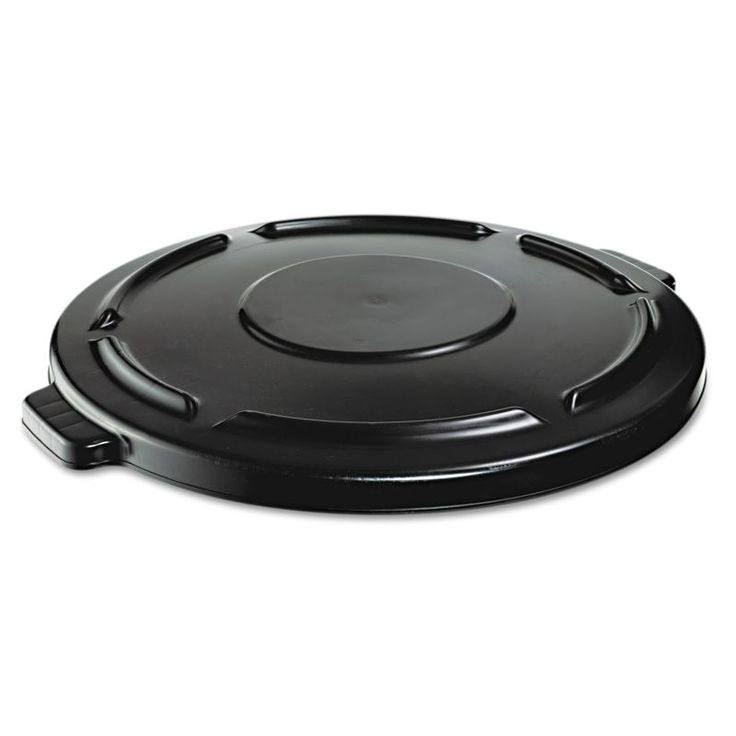 "Rubbermaid Commercial RCP264560BLA Vented Round Brute Lid 24-1/2"" x 1-1/2"" Black Janitorial Supplies Waste Receptacles Waste Receptacle Lids"