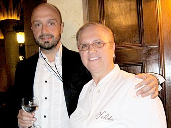 joe bastianich with mother Chef Lidia