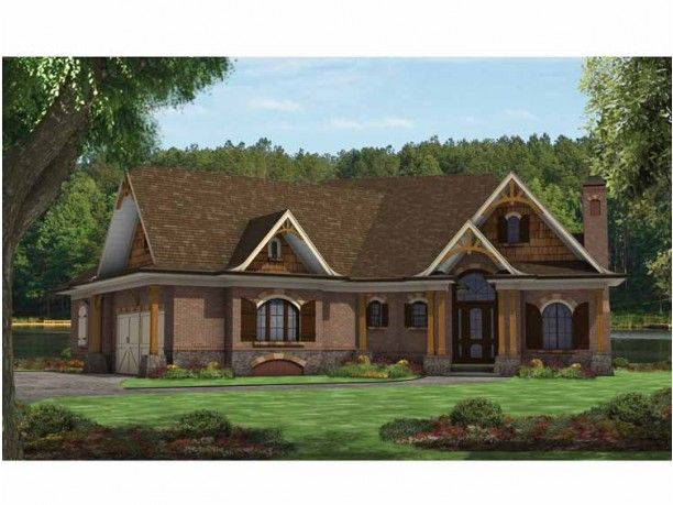 Mountain craftsman house plan house plans pinterest for Mountain home designs floor plans