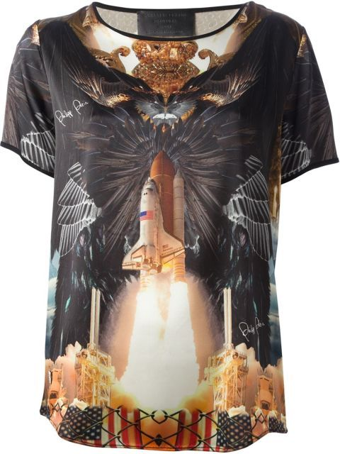 Shop this Philipp Plein Rocket Print Top and 14 other space-themed pieces that will take your look out of this world.