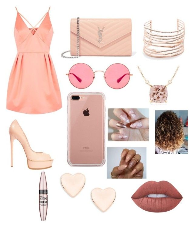 """""""Untitled #12"""" by andreaessley on Polyvore featuring Topshop, Casadei, Yves Saint Laurent, Ray-Ban, Belkin, Ted Baker, Alexis Bittar, Lime Crime and Maybelline"""