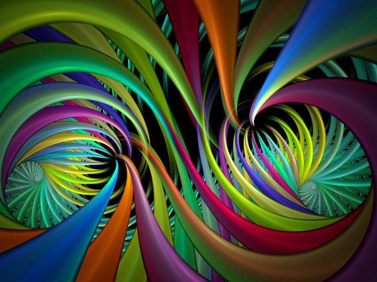 Color Design Art : Abstract color design art on black stock illustration