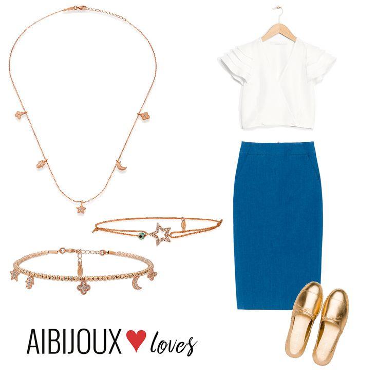 Collana e bracciali Kurshuni, Gonna Max&co, top &Otherstories, scarpe Prada #AIBIJOUX #Kurshuni #outfits #fashionjewelry #ilnostrooutfit #Prada #Maxandco