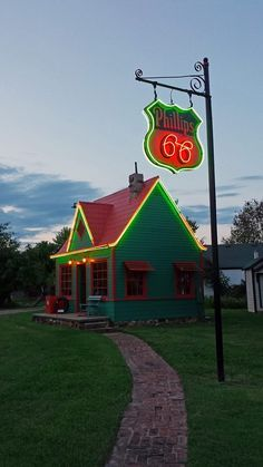 Red Oak II, MO The old Phillips 66 Station was originally located on Route 66 in the first Red Oak.