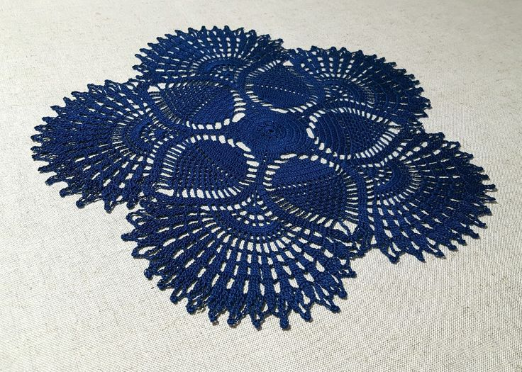 Excited to share the latest addition to my #etsy shop: SALE 40%; READY TO SHIP; Dark blue crochet tablecloth; Beatiful pineapple pattern; Made by VerLen Crochet #housewares #homedecor #christmas #crochet #crocheted #crochetdoily #crochetdoilies #lovecrochet #verlencrochet #crochê http://etsy.me/2AJc2Jh
