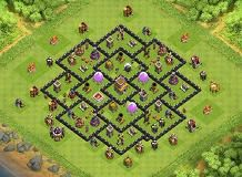 2nd War-Base TH 8 Clash of Clans Base Layout