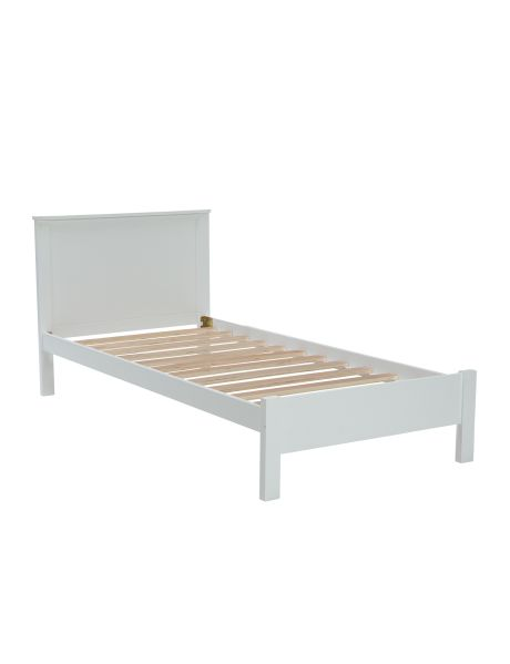A fashionable bed frame with a white painted finish, the Kent bed frame will be a stylish addition to your bedroom.