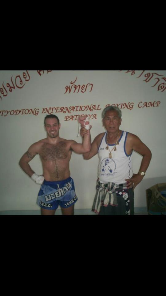 With Muay Thai Legend Kru Senanan Yodtong , Pattaya 2006