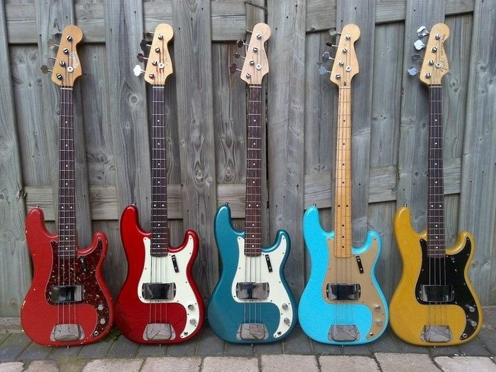 1950's Fender Bass Guitars - Shared by The Lewis Hamilton Band - https://www.facebook.com/lewishamiltonband/app_2405167945 - www.lewishamiltonmusic.com http://www.reverbnation.com/lewishamiltonmusic -