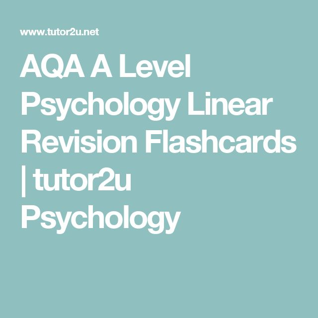 AQA A Level Psychology Linear Revision Flashcards | tutor2u Psychology