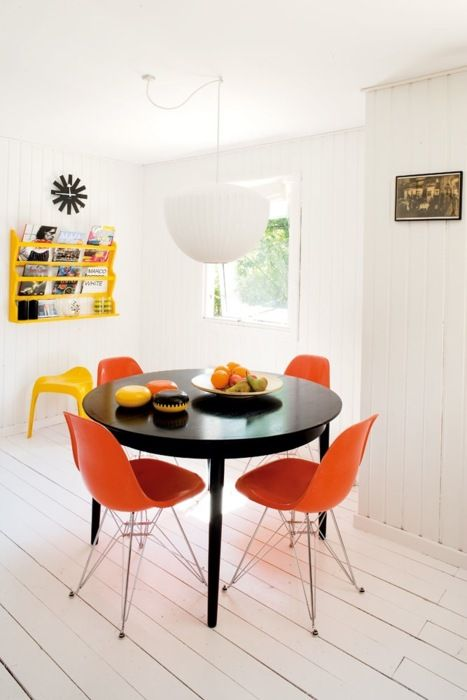 Best  Orange Chairs Ideas On Pinterest Armchairs Wire Chair - Orange dining room chairs