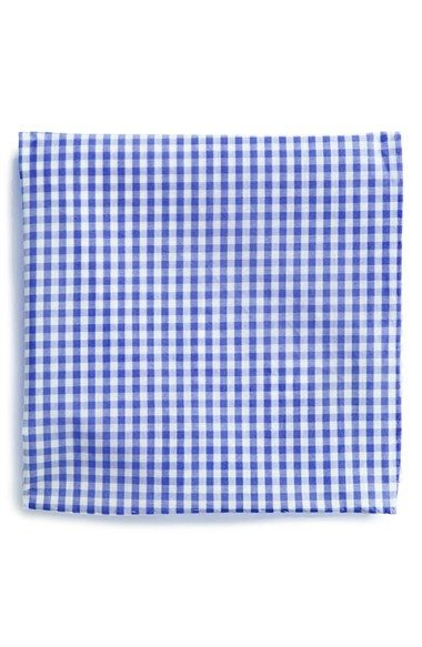 The Tie Bar Cotton Gingham Pocket Square (Online Only) available at #Nordstrom