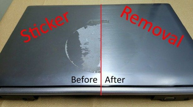 How To Remove Sticker Residue From Laptop Remove Sticker Residue