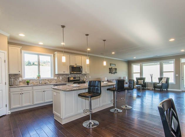 Fischer Homes. See More. Windows Letting In Natural Light Allows This Open  Kitchen And Family Room To Feel Bright And