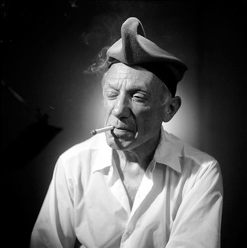 Pablo Picasso by Raymond Fabre - http://agnusphoto.tumblr.com/post/53089412826/pablo-picasso-by-raymond-fabre