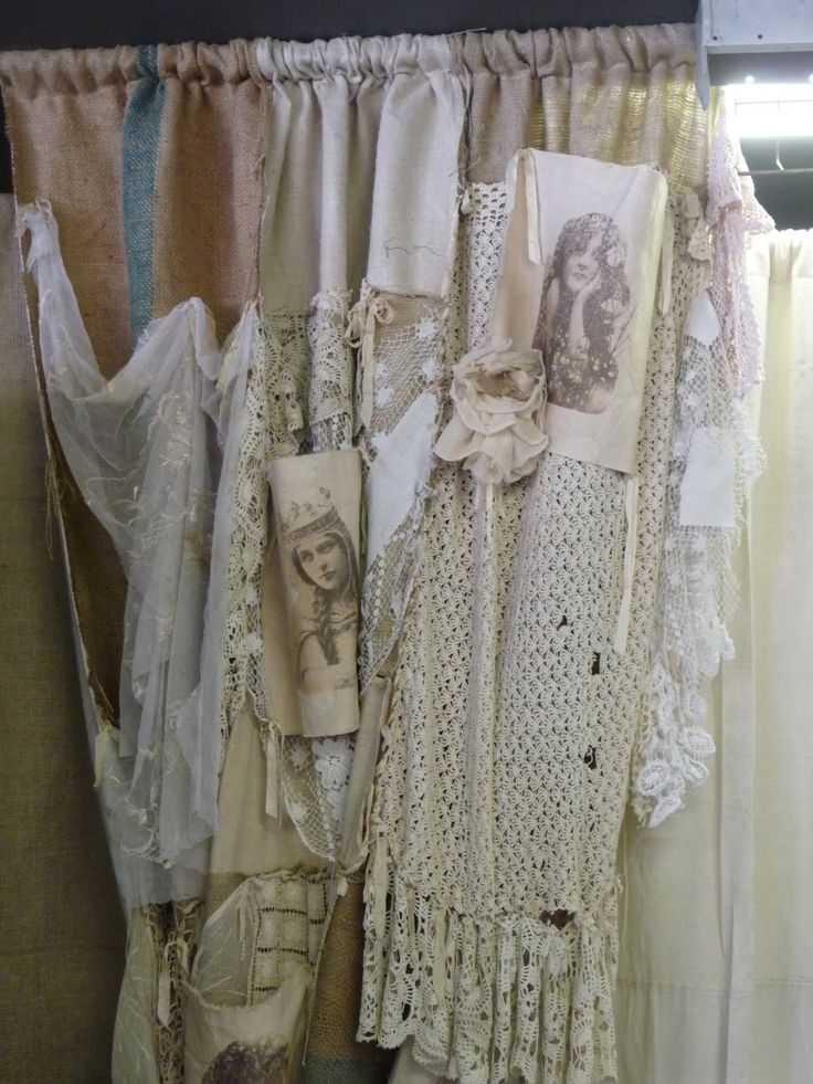 Shabby Vintage Curtains For The Smock Room Diy Window