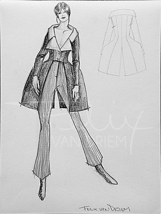 48 best sketches past and present felix van driem images - L ecole de la chambre syndicale de la couture parisienne ...