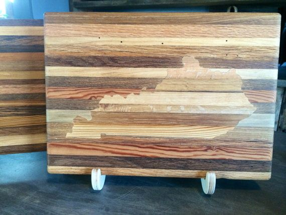 Tobacco stick cutting board with kentucky by for Sticky boards for crafts