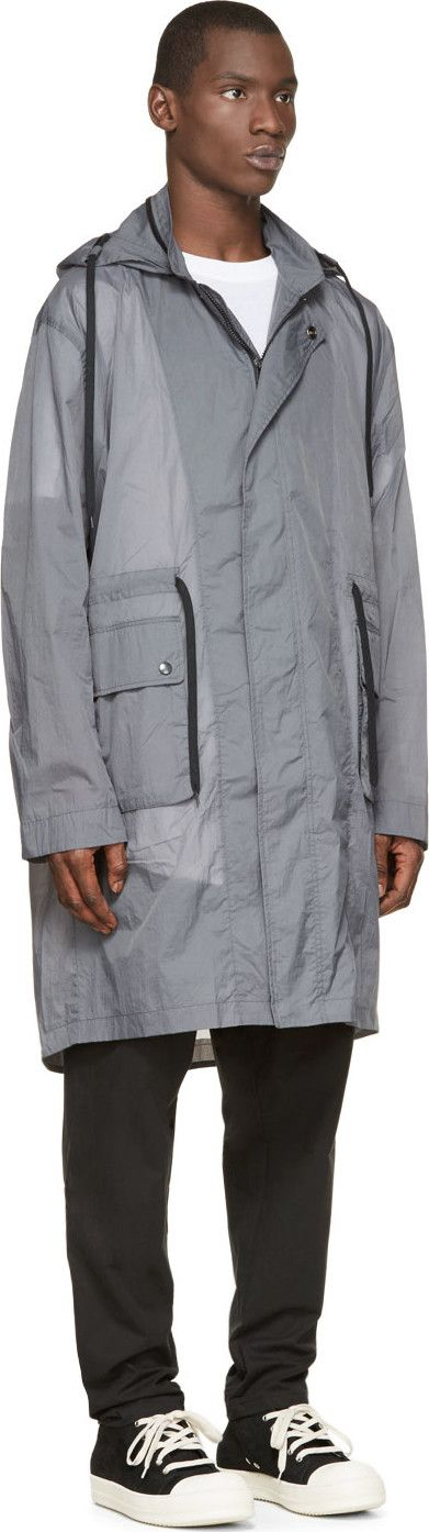 Silent by Damir Doma Grey Nylon Lightweight Parka