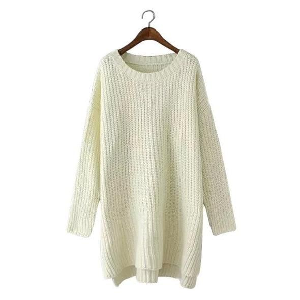 71f27ce67114 OMCHION Sueter Mujer 2018 Autumn O Neck Korean Long Sweater Women Casual  Loose Batwing Sleeve Split Pullover Knit Jumper LMM05 in 2019 | Sweaters |  Long ...