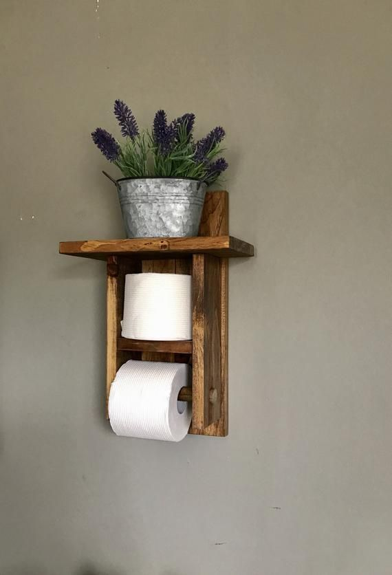 Toilet Paper Holder Bathroom Decor Toilet Paper Storage Bath Tp Holder Toilet Roll Holder Rustic Bathroom Toilet Paper Rack Storage Wood Toilet Paper Holder Farmhouse Toilet Paper Holders Bathroom Toilet Paper