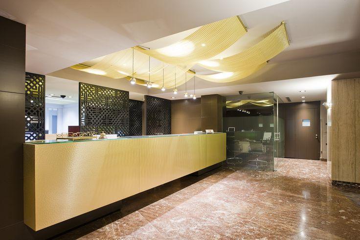 Recepción Lobby. Hotel Tres Reyes. Pamplona. Spain.