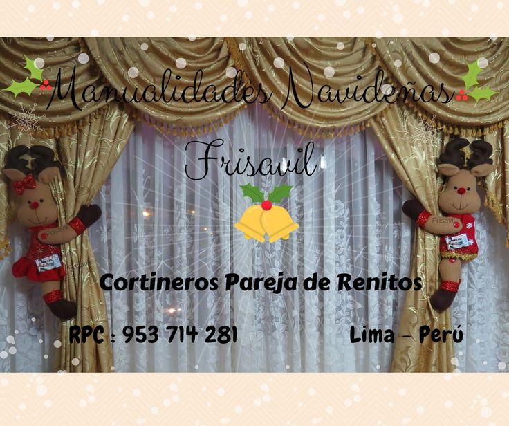 MANUALIDADES NAVIDEÑAS FRISAVIL TIENDA ONLINE CORTINEROS NAVIDEÑOS RENITOS #decoracion #navidad