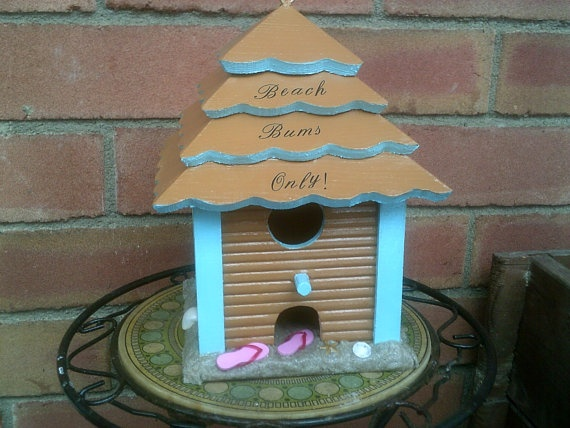 beach style birdhouse by tuttomare on Etsy, $12.00