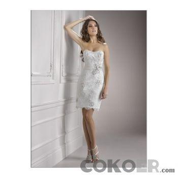 Korta-Brudklänningar-strapless-sweetheart-2012-slida-korta-bröllopsklänningar