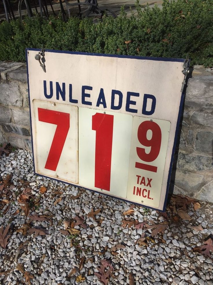 "Vintage Gas Station Price Sign Griffith Filling Station Lititz, Pa 36""X36"""
