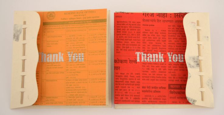 Thank You cards in newspaper