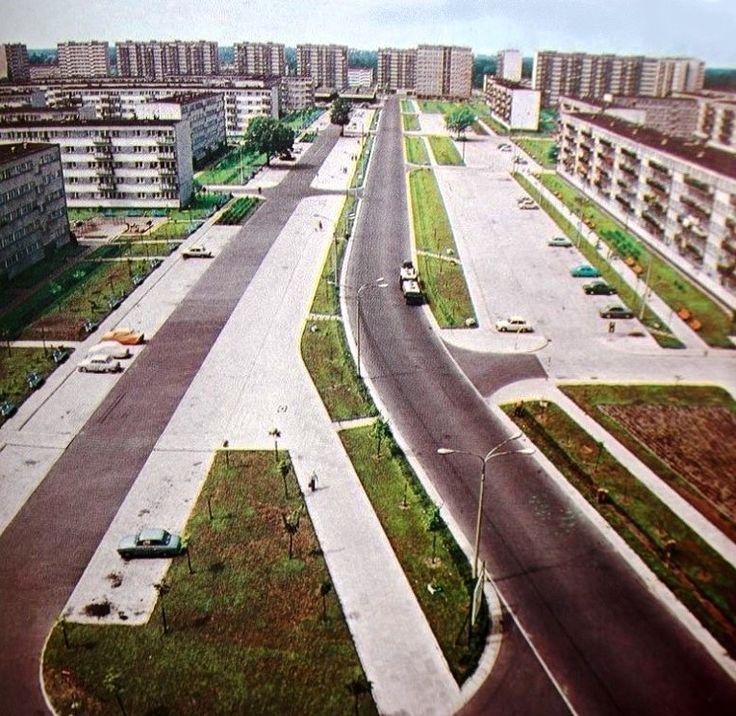 Widok na ulicę Lnianą w roku 1969
