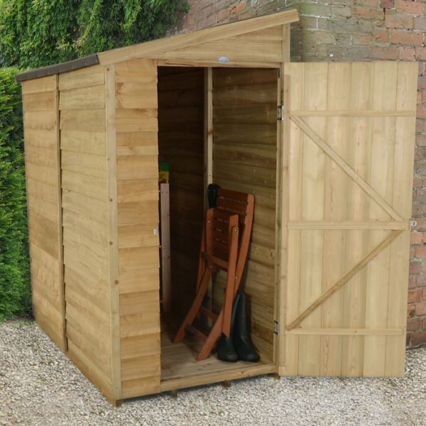 hartwood x windowless overlap pressure treated pent wall shed cheap sheds sheds - Garden Sheds 3ft Wide