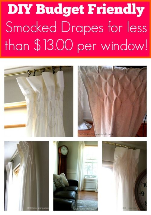 Diy Smocked Drapes For Less Than 13 00 Per Window Dio