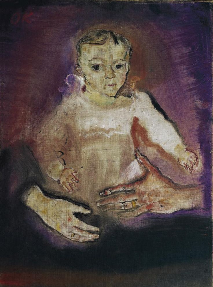 Oskar Kokoschka (Austria 1889-1980), Fred Goldman (Kind mit den Händen der Eltern – Child with the Hands of Parent)), oil on canvas, 1909. Belvedere, Vienna.