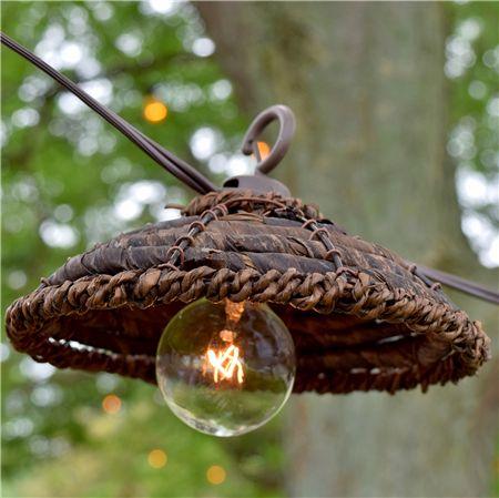 Hanging / Rustic / Tropical / String Lights / DIY / Outdoor Patio Banana Leaf String Lights - Banana Leaf - Oogalights.com - More Than 1,000 Party & String Light Bulbs!