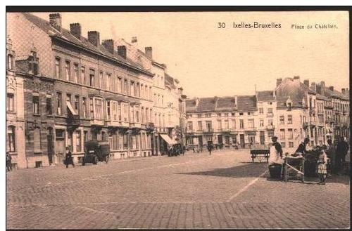 ixelles place du ch telain anciennes cartes postales de bruxelles pinterest bruxelles. Black Bedroom Furniture Sets. Home Design Ideas