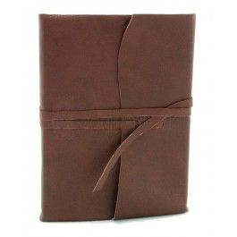 Amalfi Leren Dagboek Middelgroot Chocoladebruin