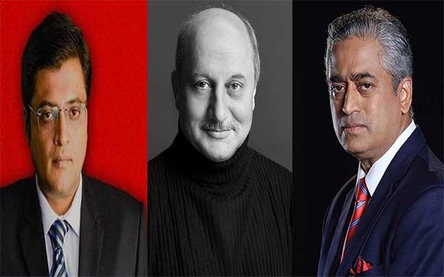 Rajdeep Sardesai vs Arnab Goswami Anupam Kher tries to defend Arnab Goswami Twitter is furious - India Today #757Live