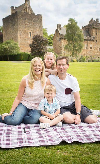 Location shoot family portrait Dean Castle Park Scotland