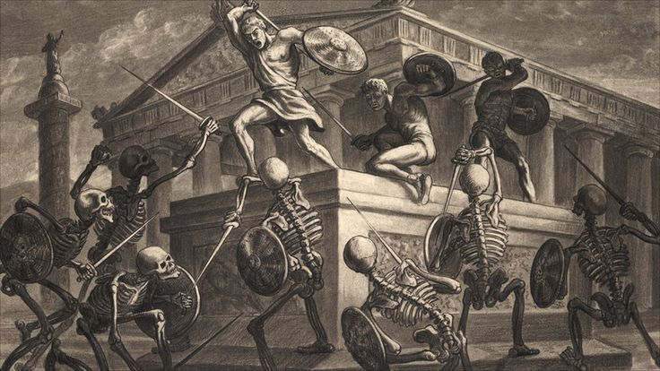 Jason and the Argonauts sketch. As part of the Ray Harryhausen exhibition in Bradford, film fans will get the chance to see original sketches made by Mr Harryhausen himself. This is a concept drawing from the skeleton fight scene in Jason and the Argonauts