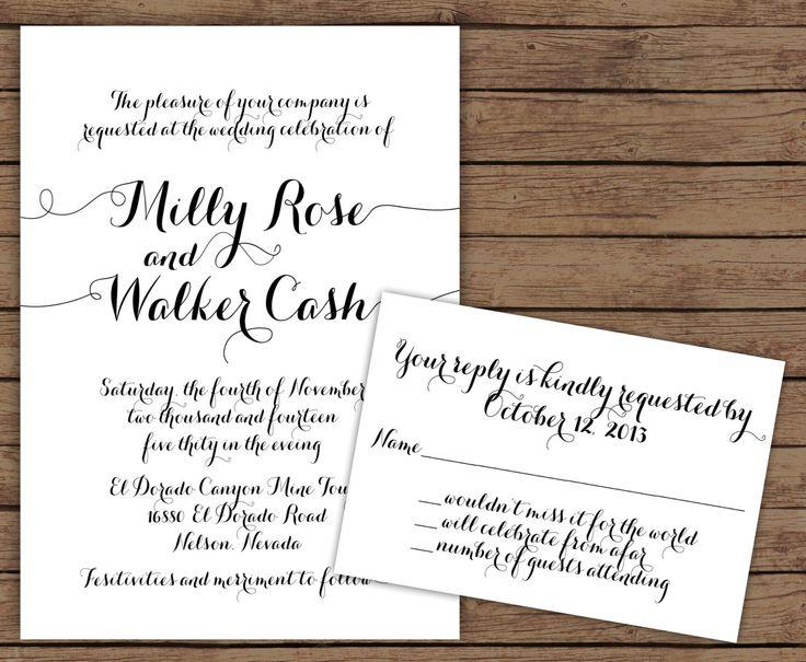 Best 25 Calligraphy wedding invitations ideas on Pinterest
