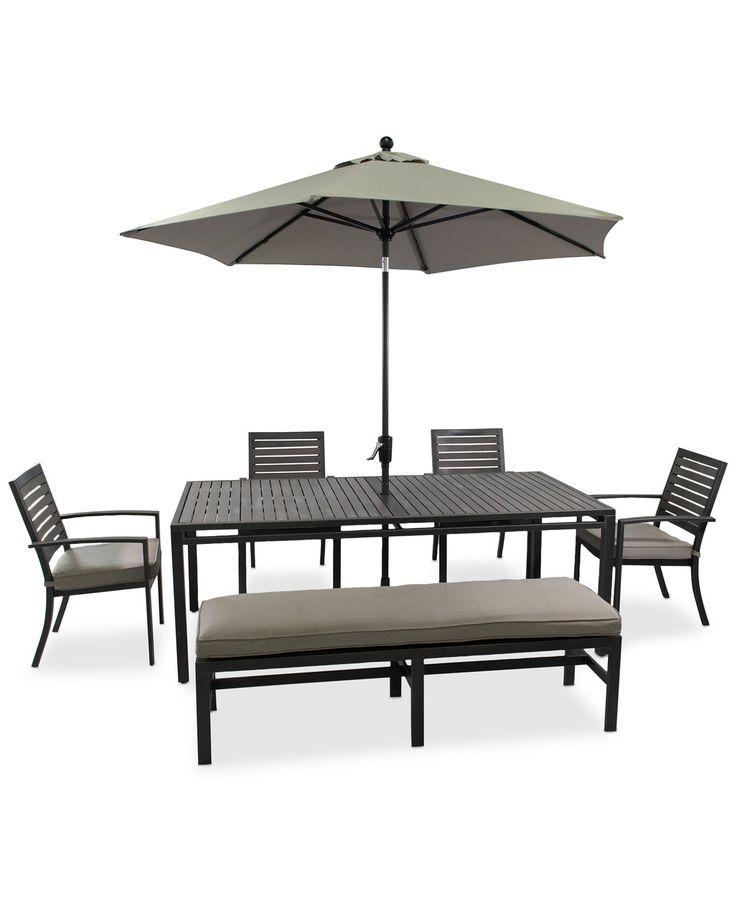 Marlough Outdoor Aluminum 6-Pc. Dining Set (84