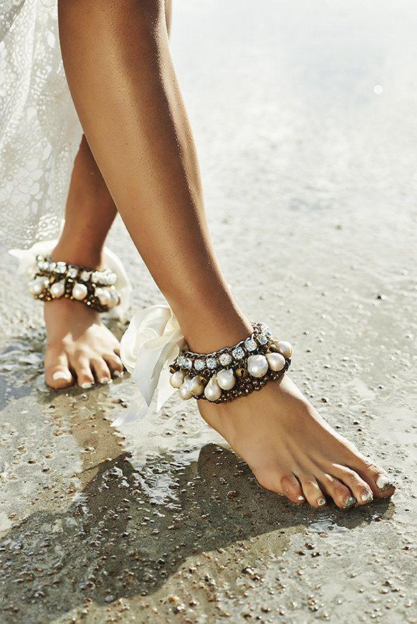 bohemian wedding themed beach wedding shoes