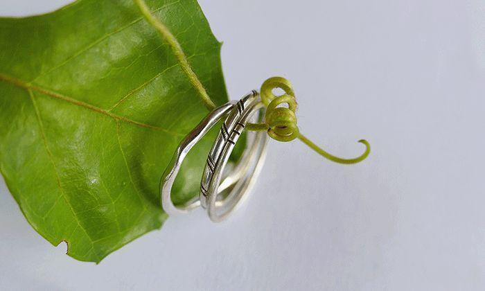 Simple silver stacking rings. #stackrings #handmade #kinkel #capetown #leaf #jewellery